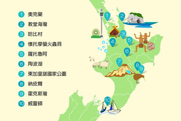 紐西蘭 News: 必去景點+私房玩點=紐西蘭懶人包MAP